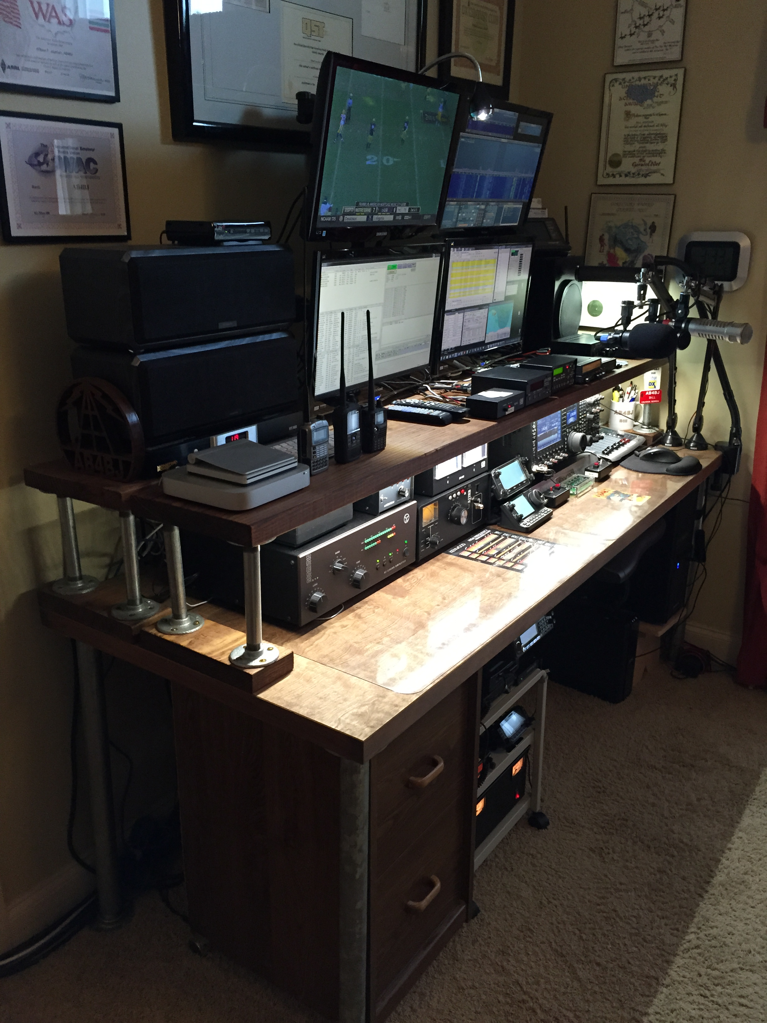 Strange The Great Ham Radio Desk Project Ab4Bj Home Interior And Landscaping Eliaenasavecom